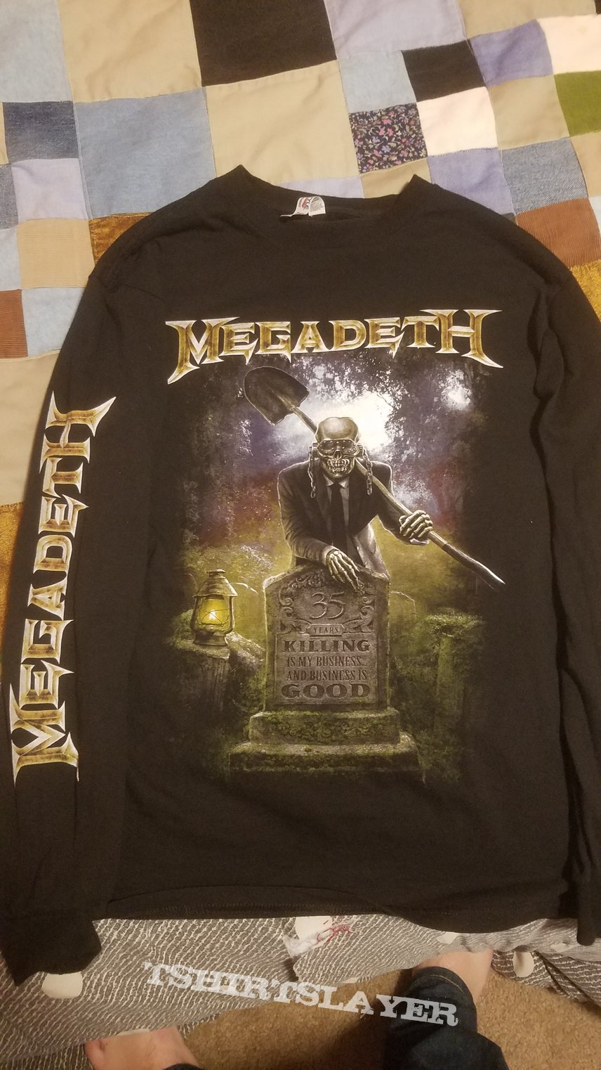 Megadeth: Killing Is My Business 35th Anniversary Long Sleeve