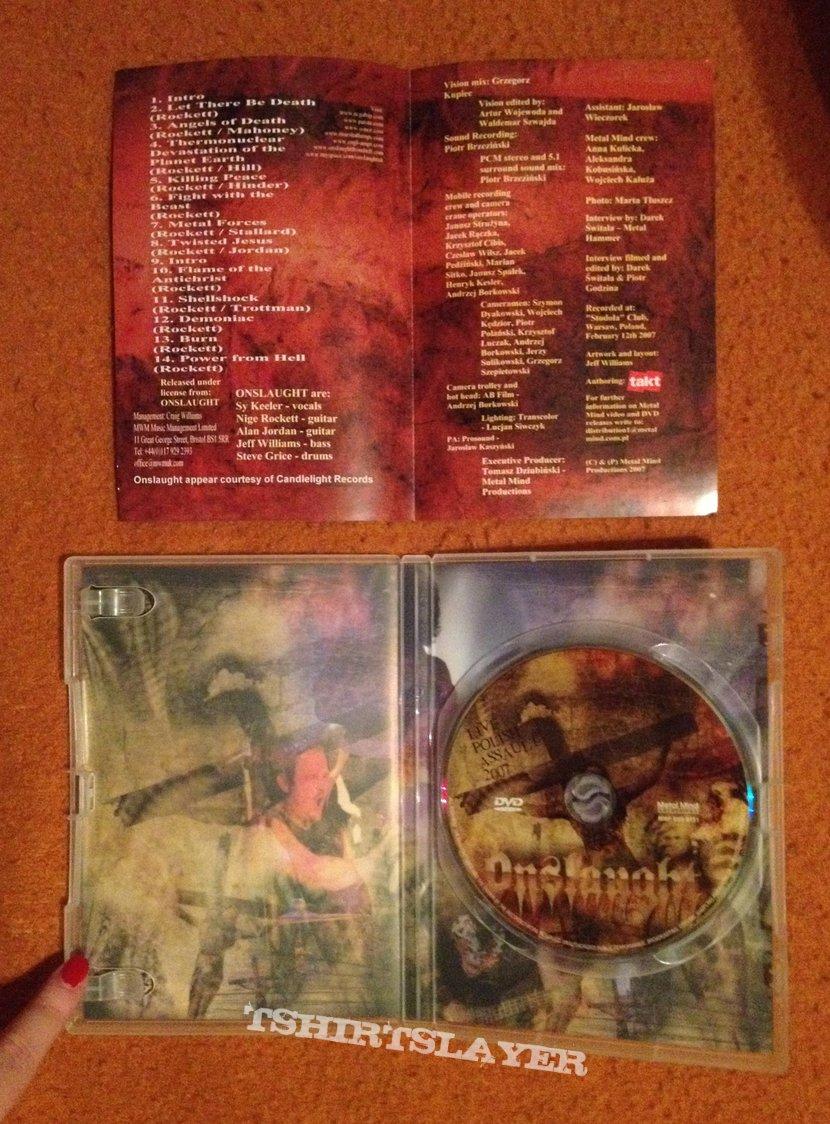 ONSLAUGHT - Live Polish Assault 2007 DVD