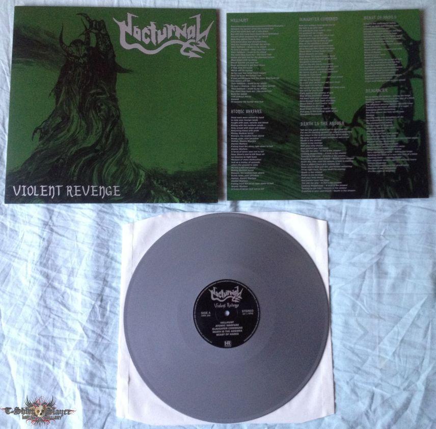 NOCTURNAL -  Violent Revenge silver LP 2015
