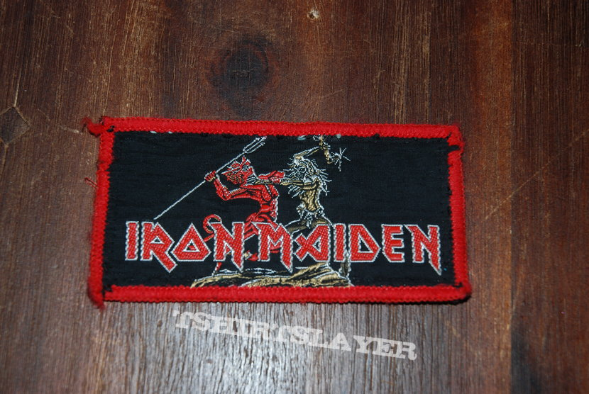 iron maiden run to the hills vintage patch