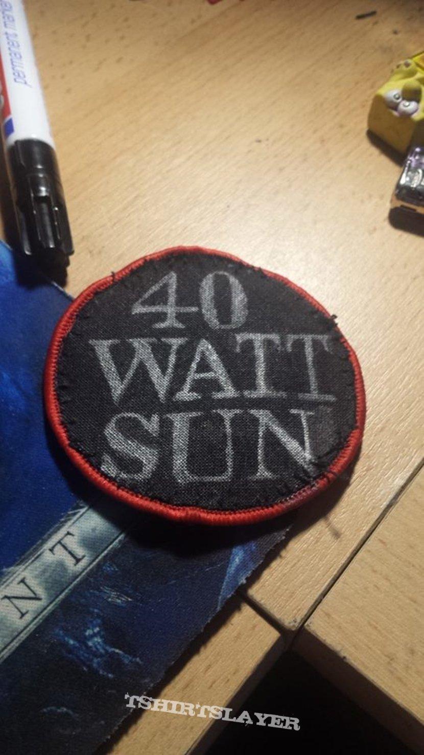 40 Watt Sun - Logo Patch (Handmade)