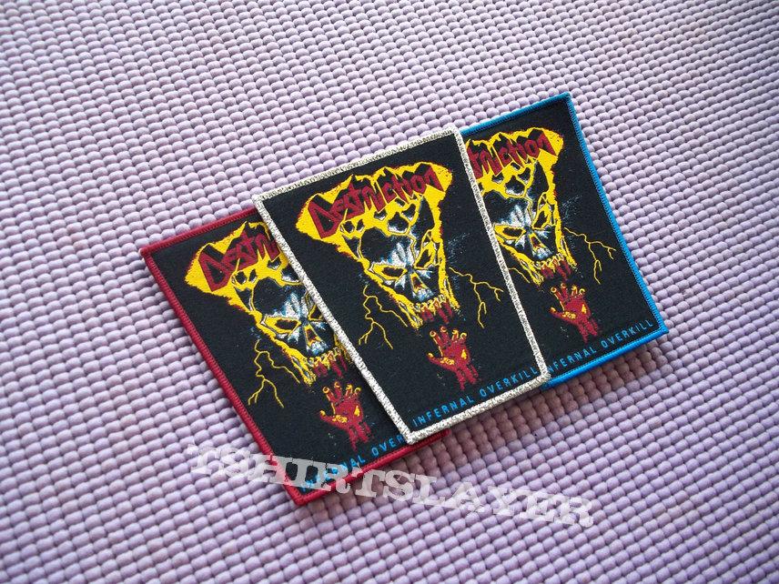 DESTRUCTION Infernal  Overkill Woven Patch !!