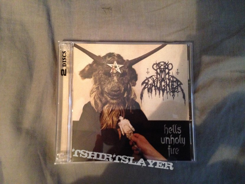 NunSlaughter Hells Unholy Fire 2000 Album Cover T-Shirt