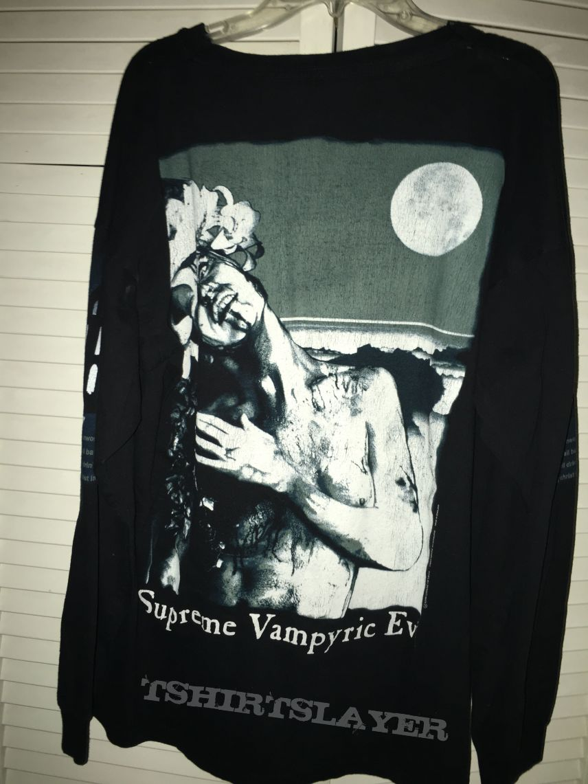 Cradle Of Filth Supreme Vampyric Evil Shirt 1996