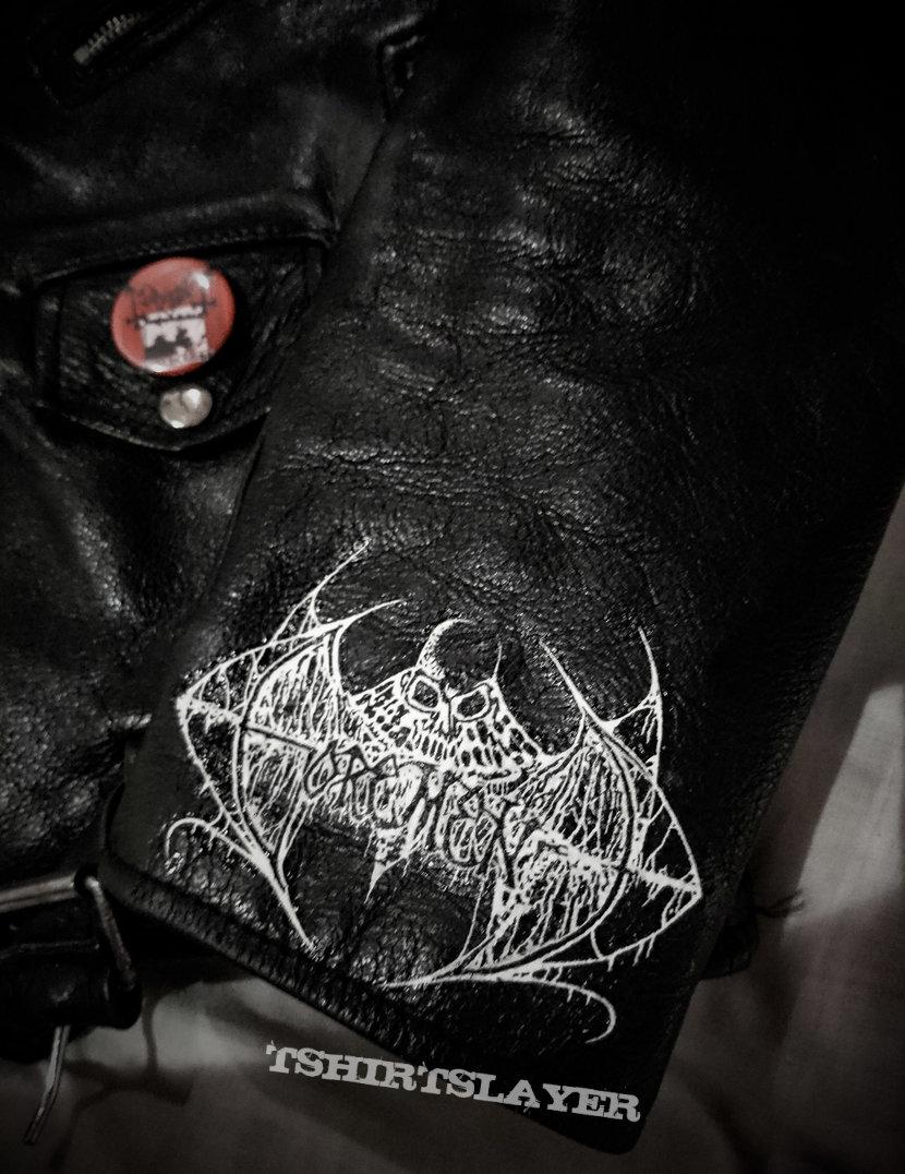 Leather jacket - Gorement Hand painted logo!!!