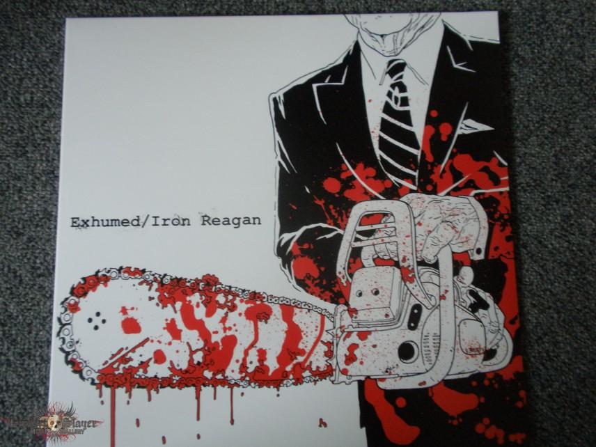 Exhumed/Iron Reagan split splatterd vinyl