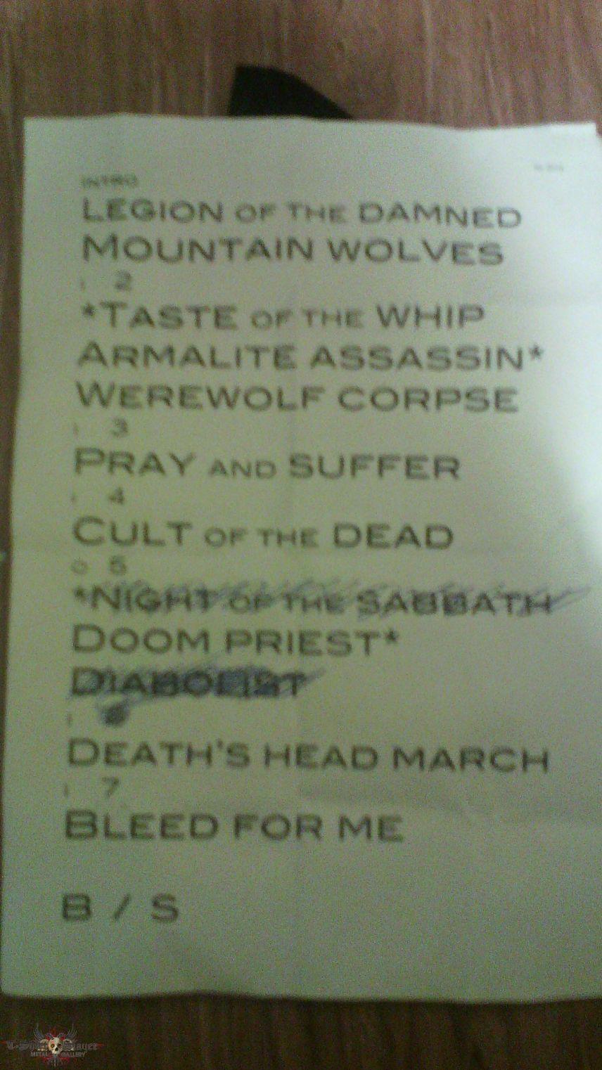 Legion of the Damned setlist