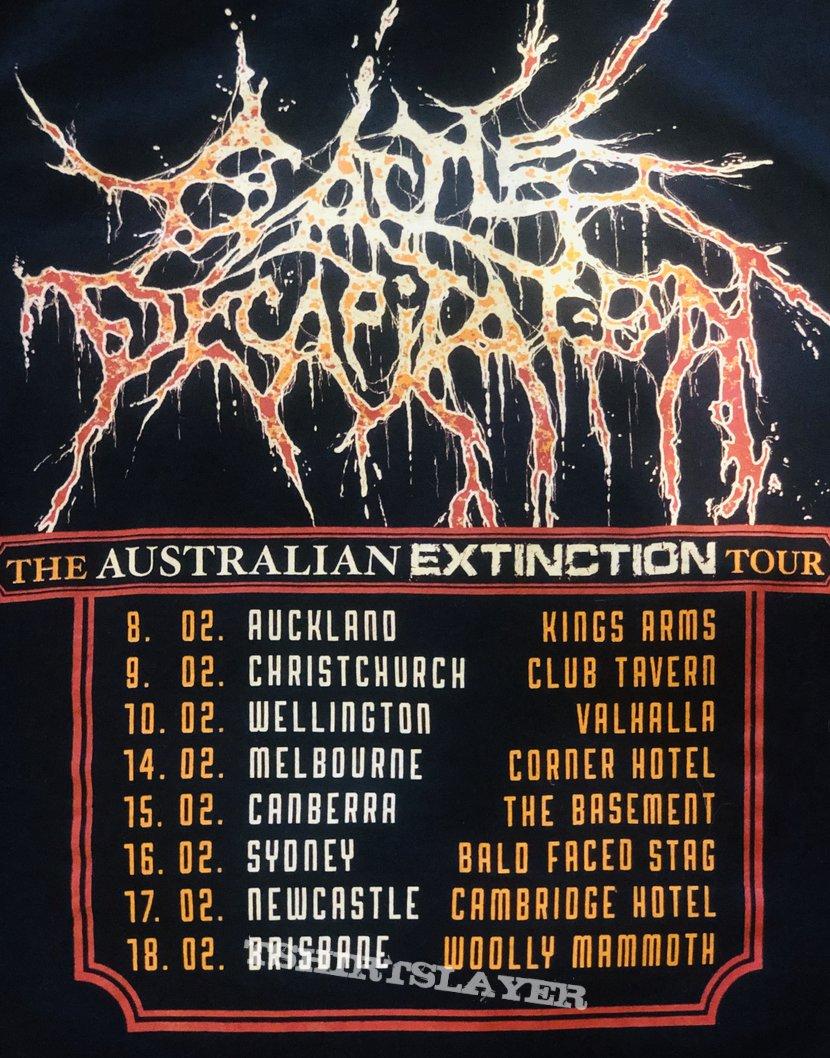 Cattle Decapitation Australian tour shirt