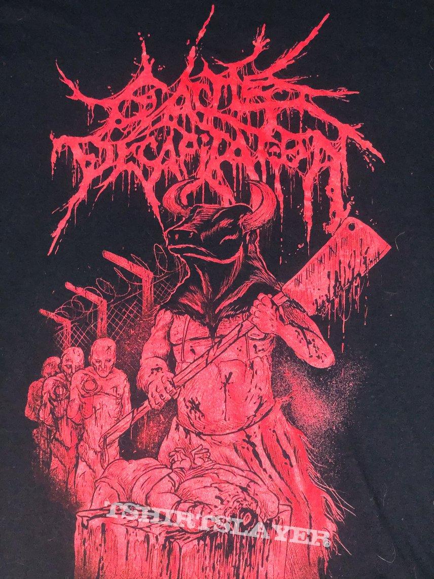 Cattle Decapitation Tshirt - Die a Bovine (red)