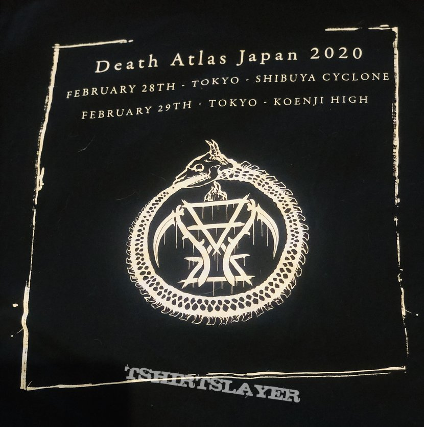 Cattle Decapitation 2020 Death Atlas Japanese tour Tshirt